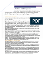 Pre-Sales and ERP Systems