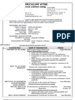 CV for BCom