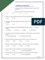 Electrical Exam aptitude question