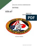 NASA Space Shuttle STS-47 Press Kit