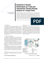 Comparison Between Annual Performance of Two-Tanks and Thermocline Energy Storages