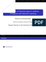 Applications of Inductive Types in Articial Intelligence and Inductive Reasoning