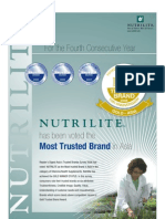 Nutrilite the most trusted brand for 4th year in a row !!!