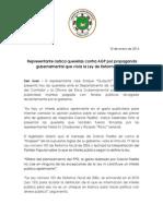 CP- Representante Radica Querellas Por Propaganda Gubernamental Que Viola Ley de Reforma Fiscal