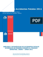 Accidentes Fatales 2011 SEGMIN (2do Trimestre)