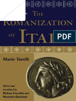 Torelli, Mario - Studies in the Romanization of Italy