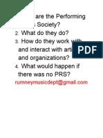 PRS Questions