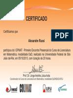 Certificados - I EPMAT