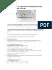 Cómo restaurar el password Administrador en Windows Server 2008 R2