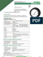 "AE-PHENOL CASE PRESSURE GAUGE (4 ½"")"