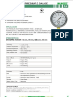 Ax-ss Case Brass Pressure Gauge