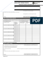 Hazardous Consignment Note Multiple Collections Blank