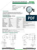 Bz-homogenizer Pressure Gauge With Transmitter