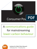 A communicatons guide for mainstreaming lower-carbon behaviour