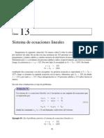 Clase13 Sistema de Ecuaciones Lineales