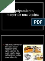 8.- Equipamiento Menor de Una Cocina