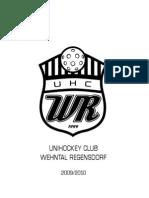 Saisonheft Unihockey Club Wehntal Regensdorf 2009/2010