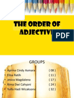 THE ORDER OF ADJECTIVE