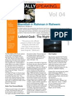 Islamically Speaking Newsletter VOL. 4