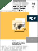 Aplicación de las normas internacionales del trabajo, 2013
