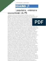Le Front populaire, «mémoire douloureuse» du PS