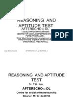 Reasoning and Aptitude Test 2 Sept