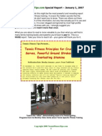 Tennis Fitness Tips Report - Todd Scott