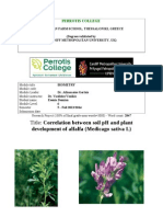 soil pH and alfalfa cultivation