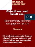 Fm Functions,Objectives,Balance Sheet, p&l Ac