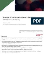2014 Sp Gsci Rebalance Advisory Panel