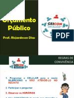 GESCON - QUESTÕES SOBRE ORÇAMENTO PÚBLICO
