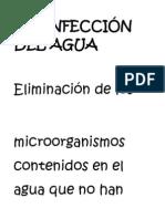 "DESINFECCIÃ""N DEL AGUA 123"