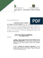 Usina Hidrelétrica de Teles Pires – Ação Civil Pública nº 3947-44.2012.4.01.3600 (Petição inicial)