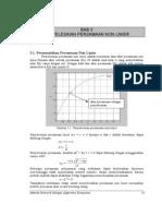 Penyelesaian Persamaan non linier