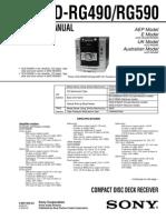 Sony Hcd-rg490 Rg590