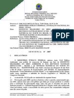 Belo Monte - Ação Civil Pública nº 2006.39.03.000711-8 (Sentença 27 de março de 2007)