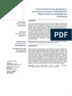 Gerontologia Social, demências e prestação de serviços
