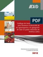 Catálogo de iniciativas públicas para favorecer el desarrollo de los agronegocios y la agregación de valor