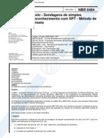 NBR 6484 01 - Solo - Sondagens de Simples Reconhecimento Com SPT - Metodo de Ensaio