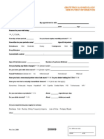 OB-GYN Intake Form New Patient Information