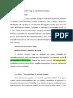 Estudo de Direito Penal I – Cap. V Lei Penal no Tempo