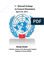 Grinnell College MUN Study Guide 2011 Korea