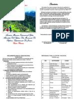 Programa Para El Tours Cusco 2014