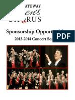 Corporate Sponsorship Opportunities 2013-2014