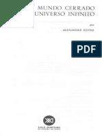 Koyré, A. - Del mundo cerrado al universo infinito (Parte I).pdf
