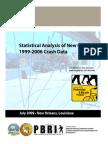 PBRI Statistical Analysis of New Orleans 1999 2006 Crash Data