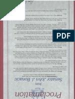Senator Bonacic Shen Yun Proclamation