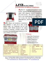 Alfo-Aluminium Foil Transformers Brochure