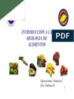 Reologia en Alimentos