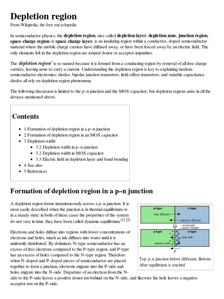 Depletion Region Pn Junction Solid State Chemistry Understanding The